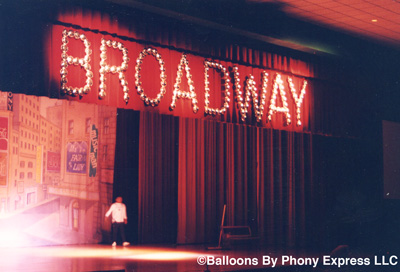 balloons by phony express llc new york broadway theme decorations